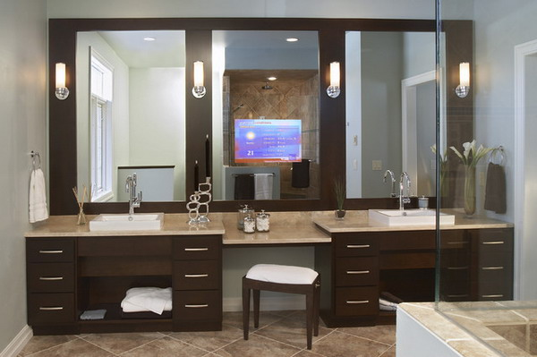 Bathroom Vanity Design Ideas inspiration for a victorian bathroom remodel in burlington with furniture like cabinets and an alcove Bathroom Vanity